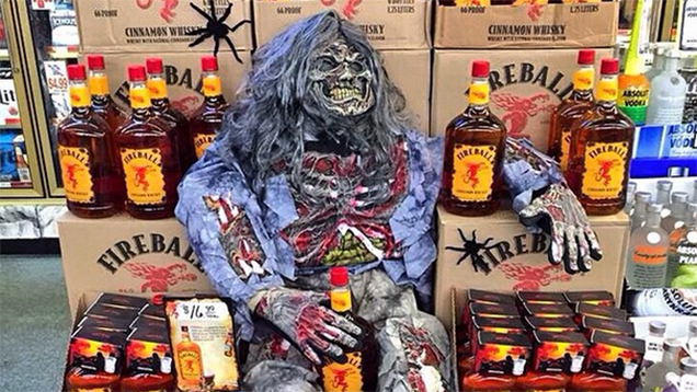 Fireball whiskey contains an antifreeze ingredient