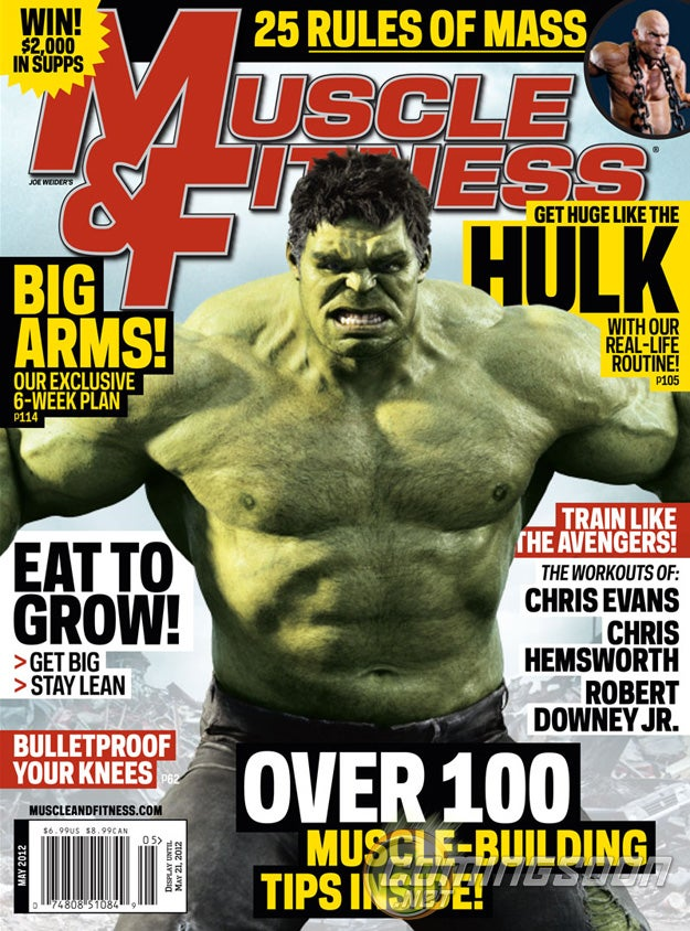 Hulk Makes the Cover of Muscle and Fitness, The Rock and Marky Mark in Ninja Gear