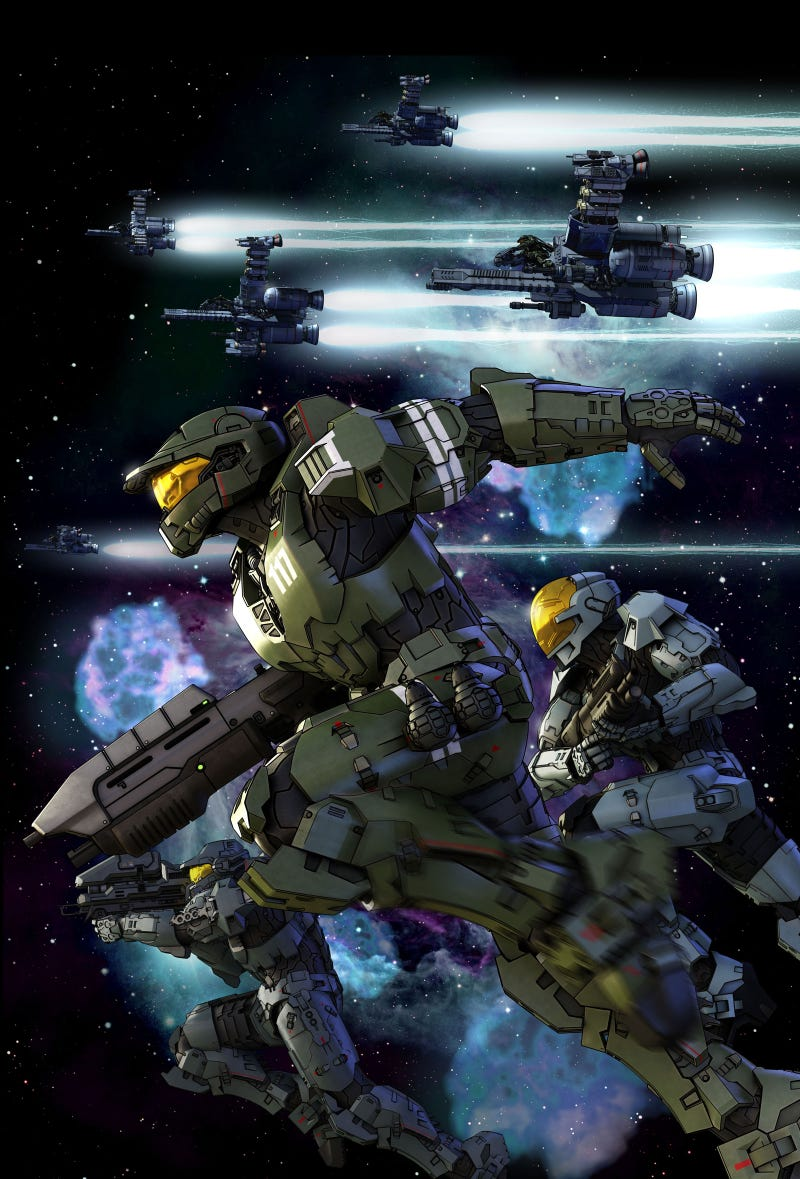 First Images Of Halo Anime