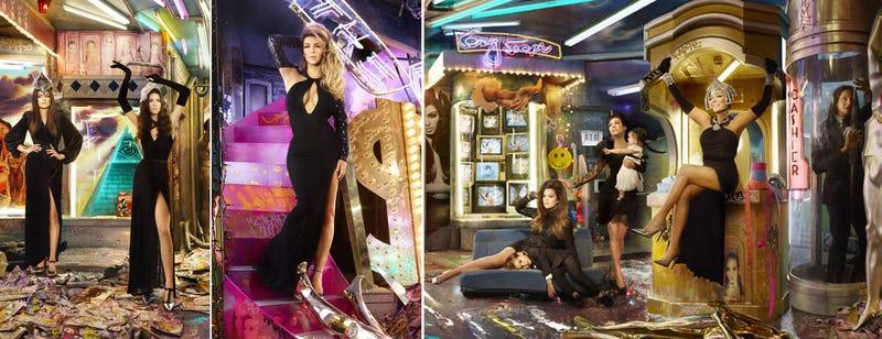 The Kardashian Kristmas Kard Is a Grotesque Illuminati Circus