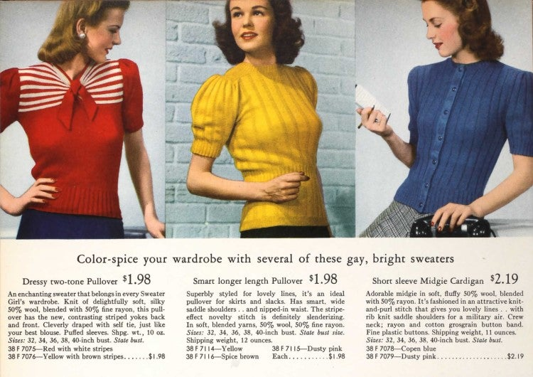 Let's Shop For Sweaters in the 1940s