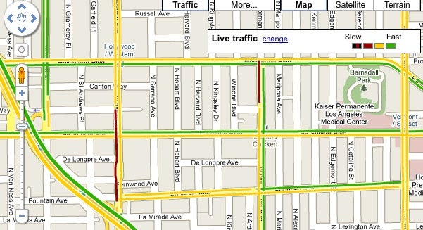 Google Maps Adds Traffic Conditions to Major Roads