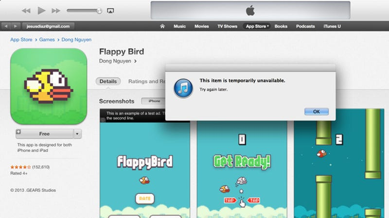 Flappy Bird Is Officially Gone From the App Store and Google Play