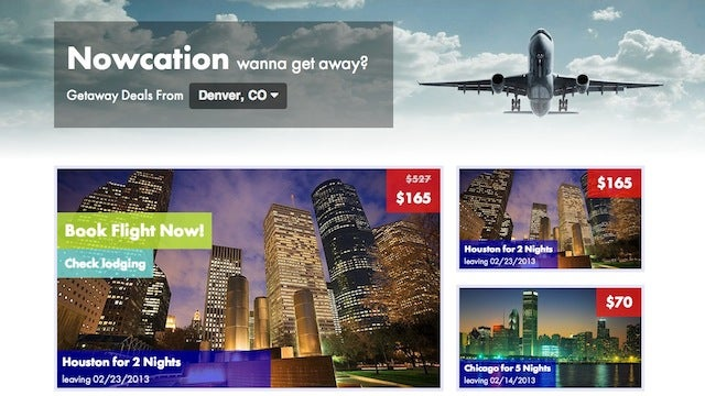 Nowcation Shows You Cheap Flights Departing within a Month