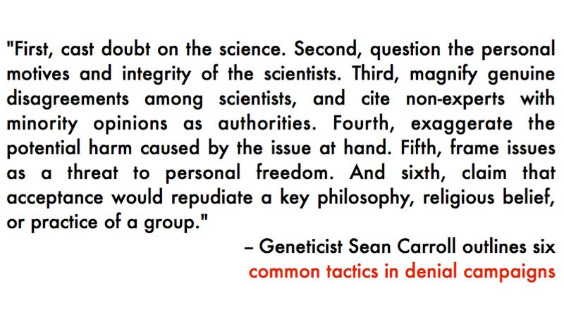 How to distinguish crap denialism from legitimate scientific debate