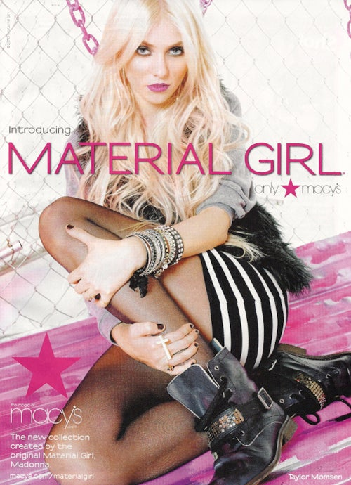 First Look: Taylor Momsen As The Face Of Madonna & Lourdes' Fashion Line