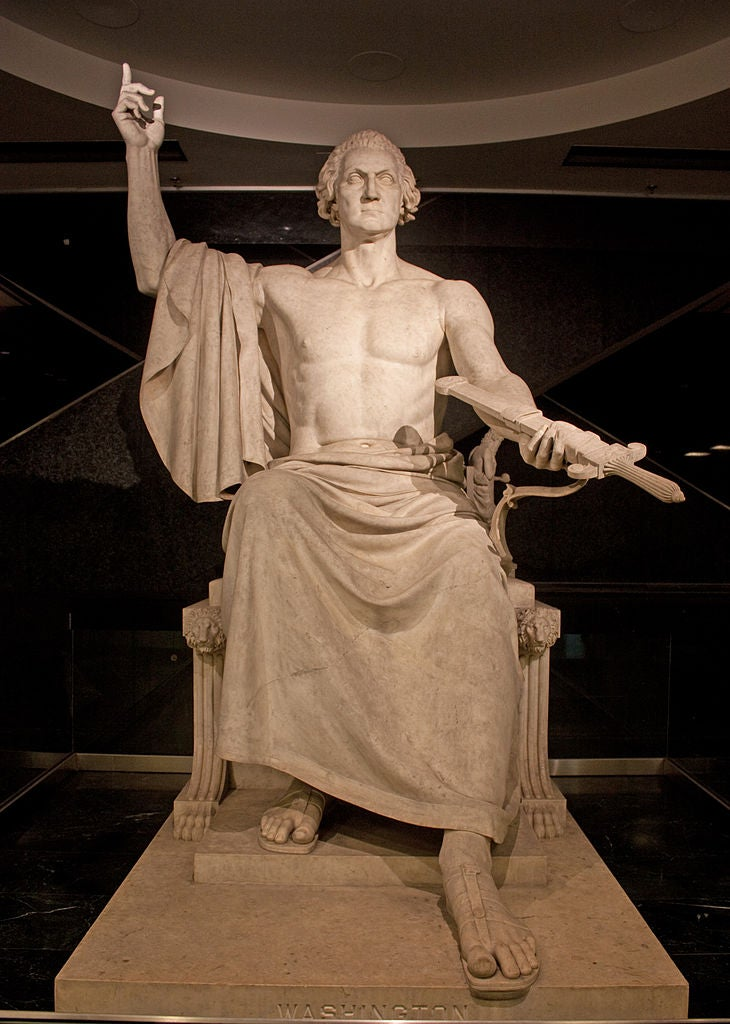 The statue of George Washington deemed too risqué for Capitol Hill