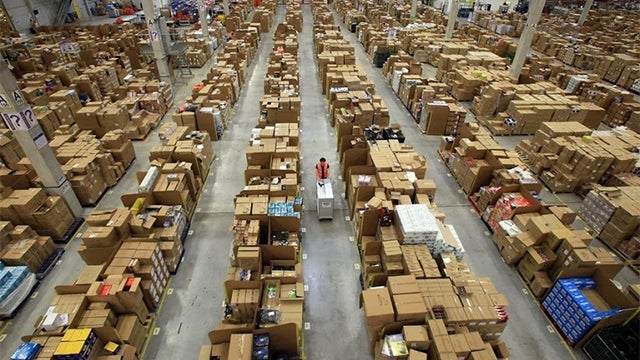 This Crazy Sea of Packages Is Santa's Real Warehouse