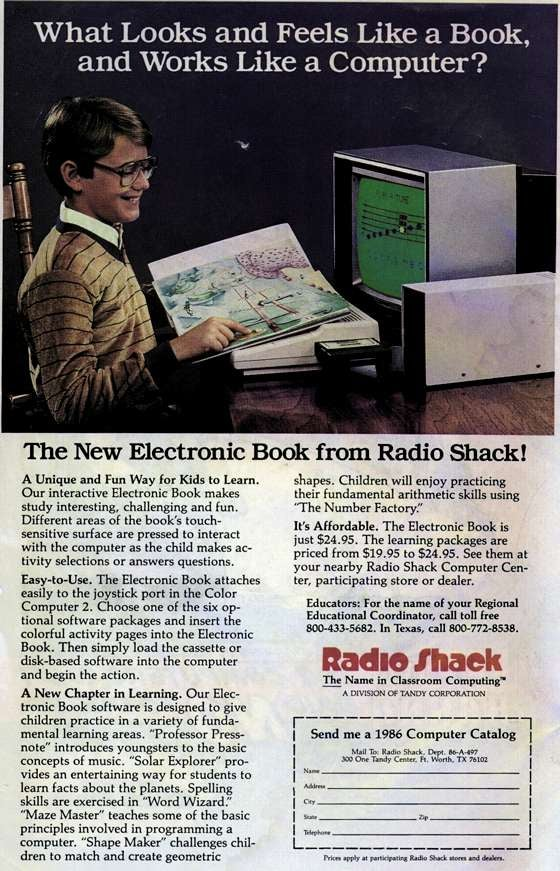 The Electronic Book, Radio Shack 1986