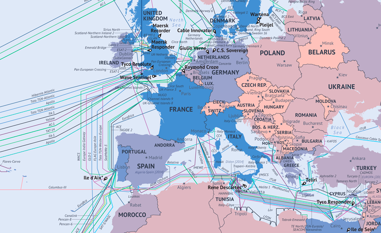 This map shows what the global Internet really looks like