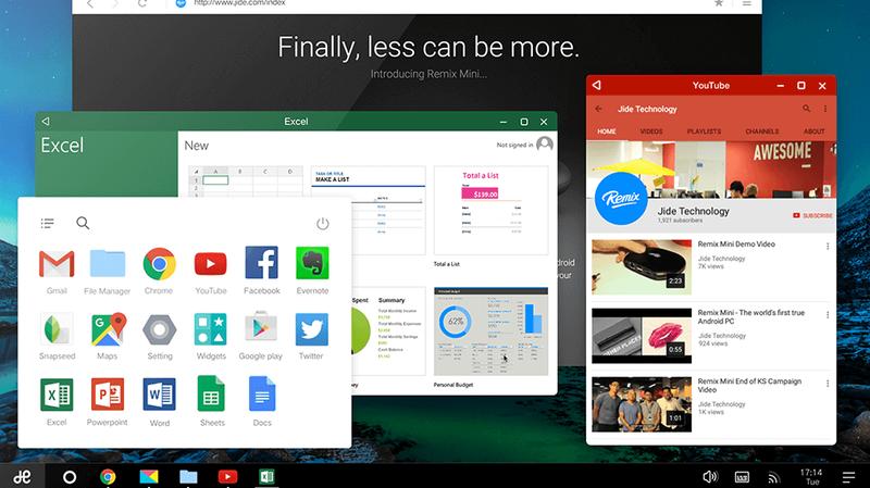 RemixOS Brings Desktop-Style Android to Intel-Based PCs