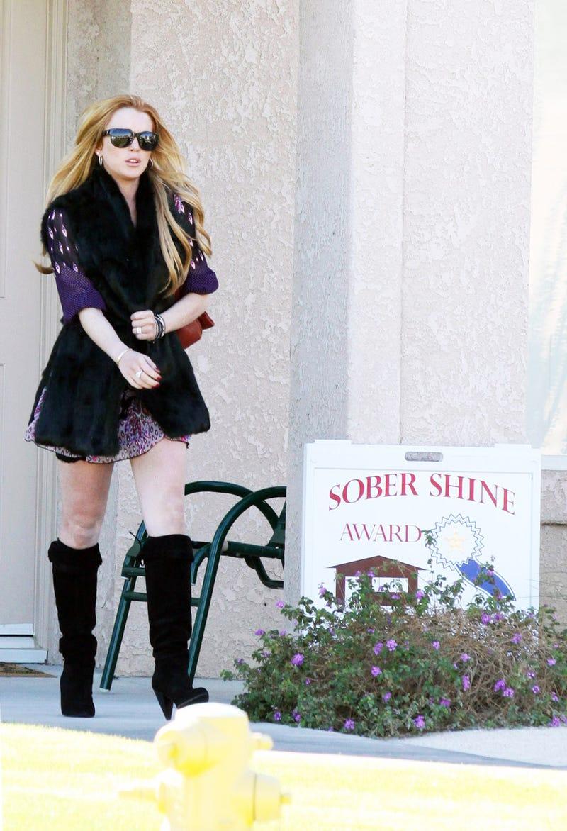 Lindsay Lohan's 'Sober Shine Award'