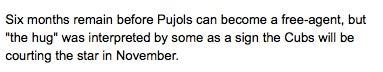 Albert Pujols Hugs Jim Hendry: A Photoplay In 10 Parts