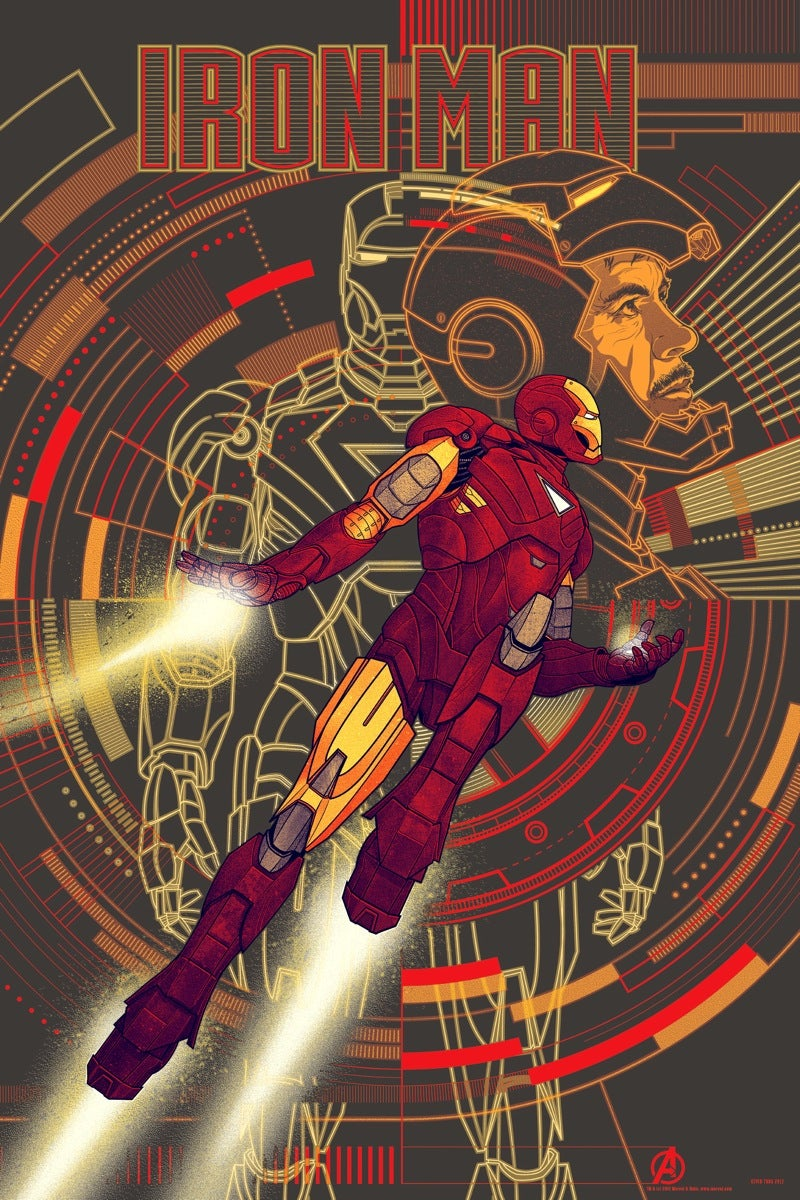 Bring home Tony Stark, with this amazing Avengers art print!