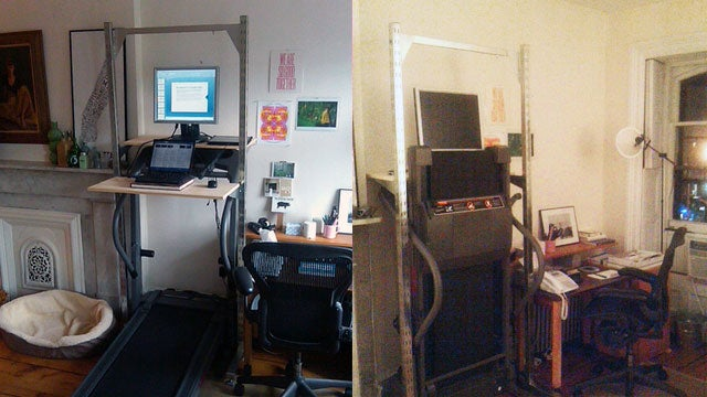 The Fold-Away Treadmill Workspace
