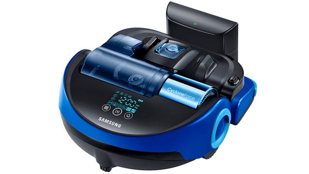 The Giant Brush on Samsung's New Robovac Cuts a Wide Swath Through Dirt