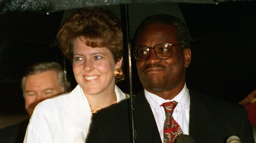 Clarence Thomas' Wife Hired as a Conservative Reporter