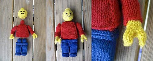 Knitted Lego Minifig Will Replace My Teddy Bear