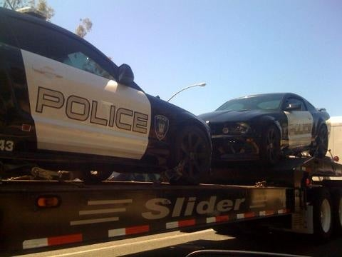 Two Barricade Saleen Mustangs Spotted, Transformers 2 Already Filming?