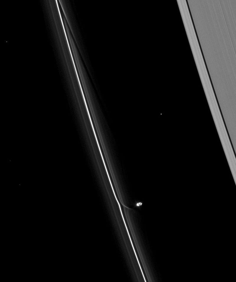 Prometheus Teases the F-Ring of Saturn