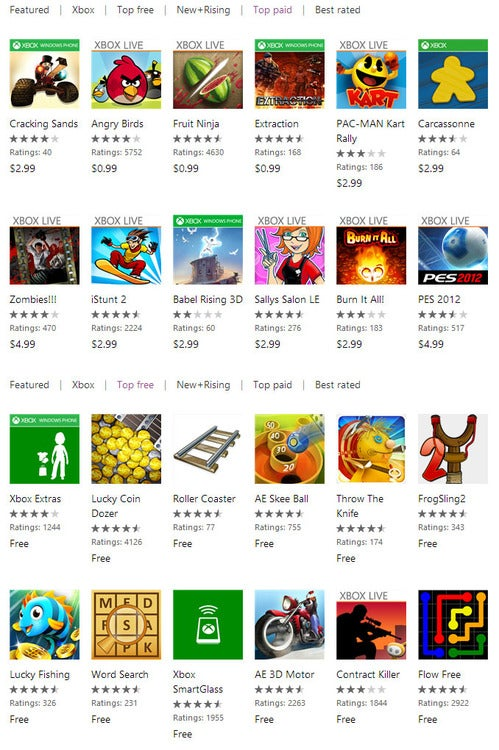 This Week's Windows Phone Charts: Xbox SmartGlass is Not a Game