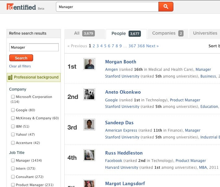 Identified Is a Professional Network Built on Facebook, Shows You How Your Facebook Profile Looks to Recruiters