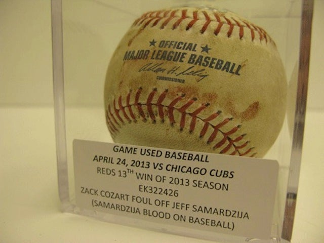 The Reds Auctioned Off A Ball Covered In Jeff Samardzija's Blood