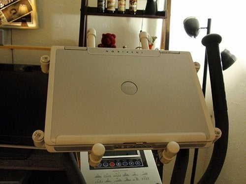 DIY PVC Laptop Stand for Exercise Equipment Gallery