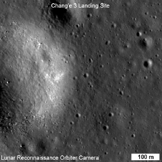 NASA snaps a pic of China's Yutu Rover from 93 miles overhead