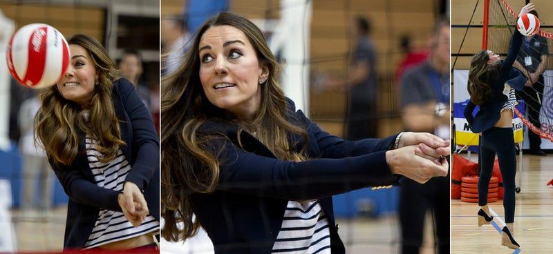 Kate Middleton Touches Balls