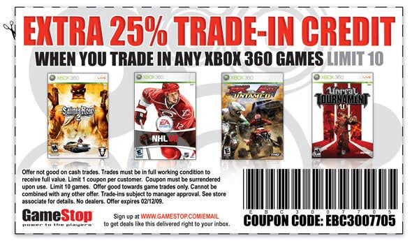 Sunday Coupons: GameStop Gives Us Credit