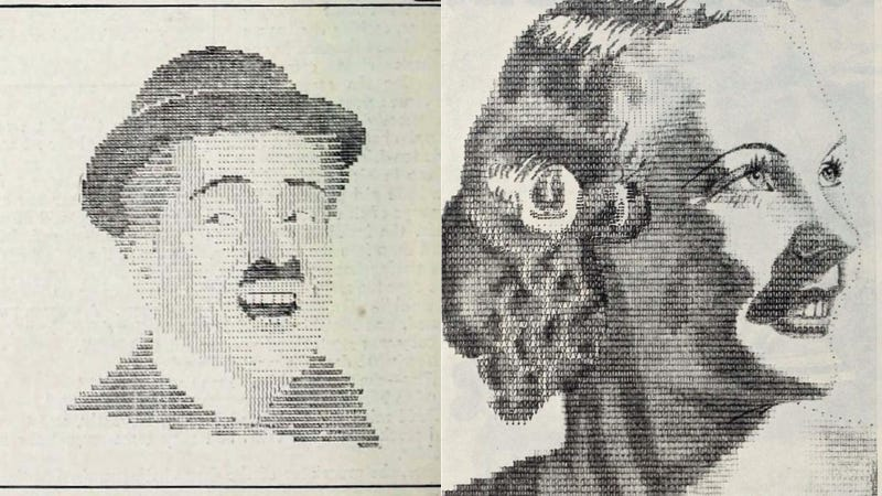 The Typewriter ASCII Portraits of Classic Hollywood and the Obsessive Fans Who Made Them