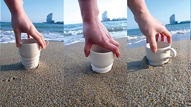 This Mug Screws Into Soft Ground to Stay Upright