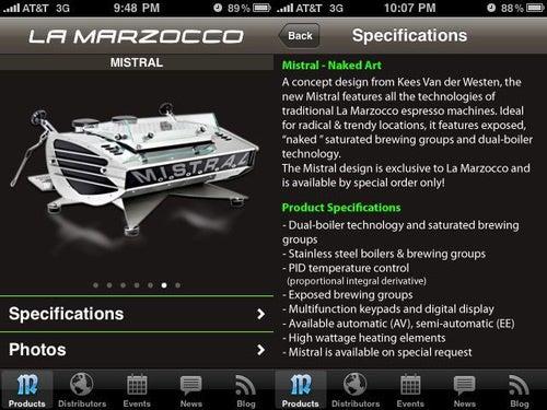 La Marzocco's Espresso Machine Porn iPhone App