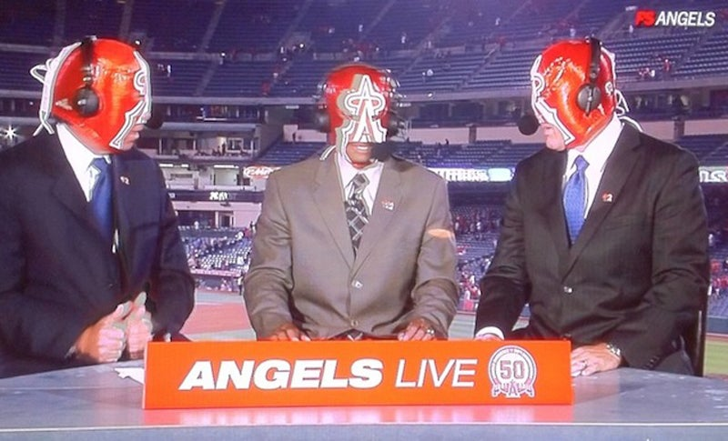 It Was Wrestling Mask Night In Anaheim