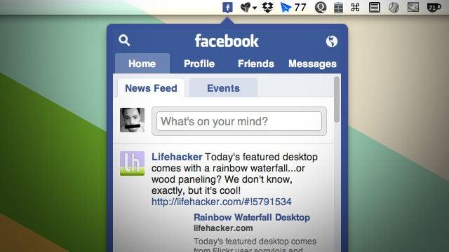 Facebox Puts Facebook in Your Mac OS X Menubar
