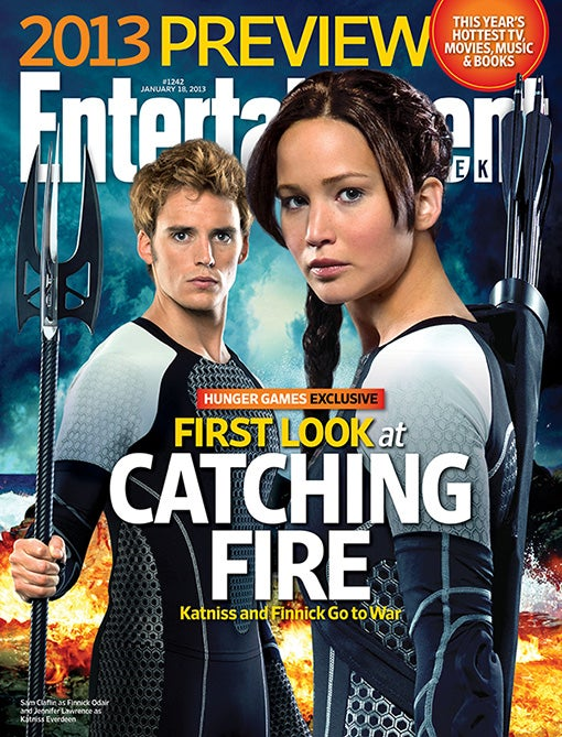 Finnick and Katniss Are Looking Preeeeetty Close in This Catching Fire Promo Pic