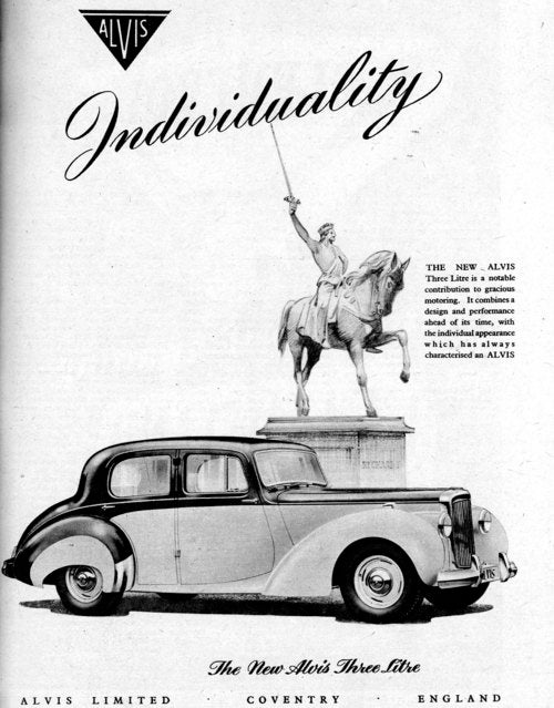 1951 British Print Car Advertisements