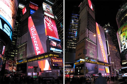 17,000 Square Foot LED Billboard Flipped On at 1 Times Square, Wraps Around Entire Building
