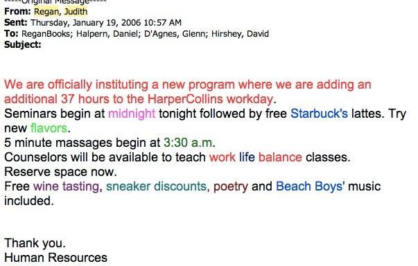Judith Regan Sent The Funniest Emails