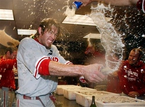 Phillies Beat Rockies, Celebrate in Sexy Wild Man Fashion