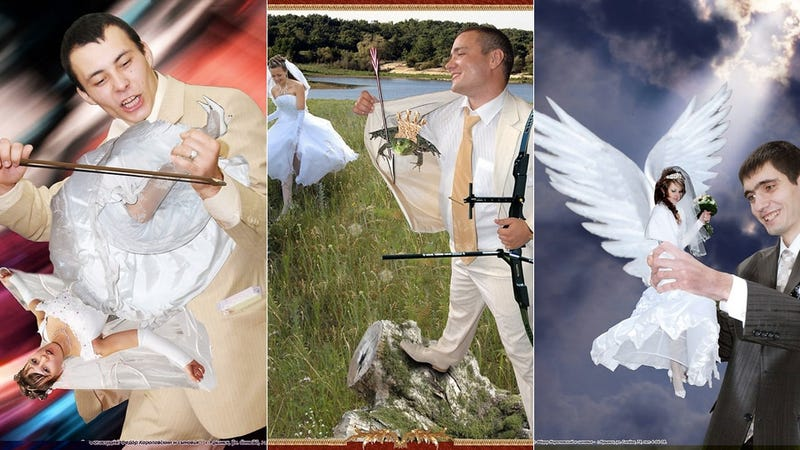 Russian Newlyweds Show Their Love through Batshit Insane Photoshops