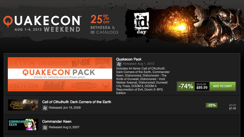 Moneysaver: QuakeCon Deals, 20+ Games for $90