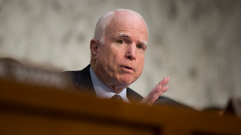 John McCain Used to Feel Very Differently About Copyright and Campaign Ads on YouTube