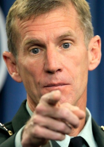General McChrystal to Retire, Bud Light Lime in Hand
