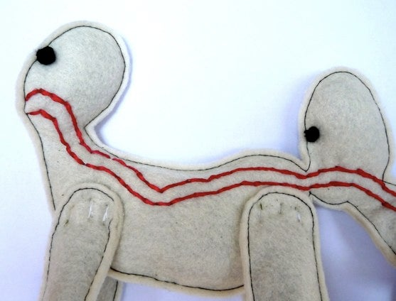 Human Centipede cat toy, for kittens and masochists