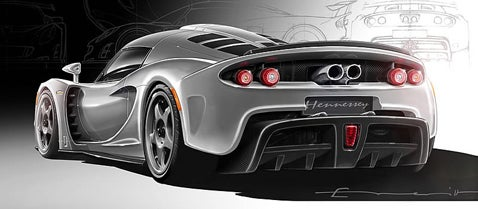 Hennessey reveals the Venom GT's rear end