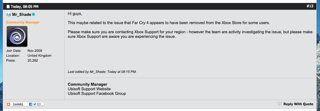 Some Xbox One Users Can't Play Far Cry 4, Even Though They Paid For It