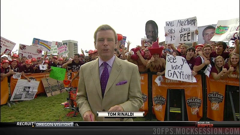 """Muschamp Takes Bubble Baths"": Your Roundup Of The Best Signs Behind The College Gameday Crew"