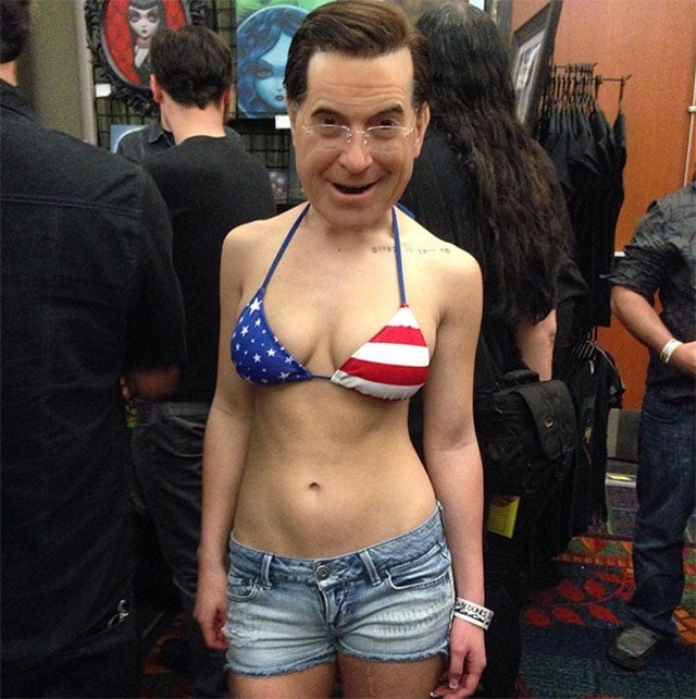 Stephen Colbert Cosplay, Or Nightmare Fuel?